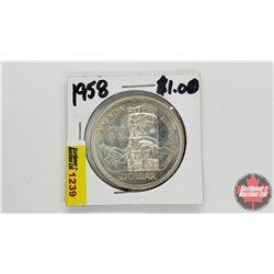 Canada Silver Dollar : 1958