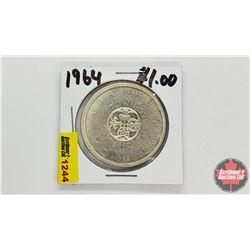 Canada Silver Dollar : 1964