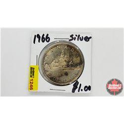 Canada Silver Dollar : 1966