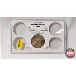 Canada Dollar Varieties 1965 Collector Case with 1965 Dollar