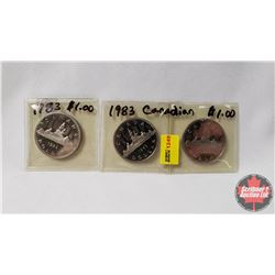 Canada Dollars (3) : 1983; 1983; 1983