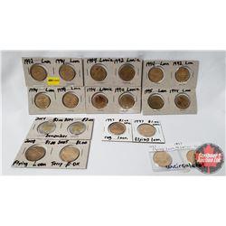Canada Loonies/Toonies - Variety Dates/Designs (18 Loonies & 2 Toonies)
