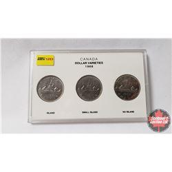 Canada Dollar Varieties 1968 Collector Case with (3) 1968 Dollars
