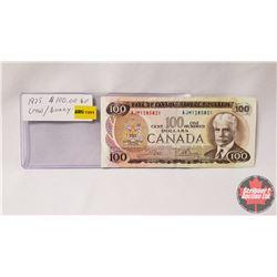 Canada $100 Bill 1975 Crow/Bouey AJM1285821