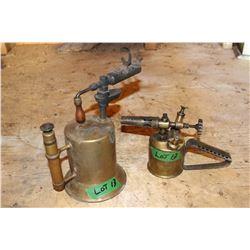 Optimus #321 Brass Blow Torch (Made in Sweden) & a Larger Brass Blow Torch