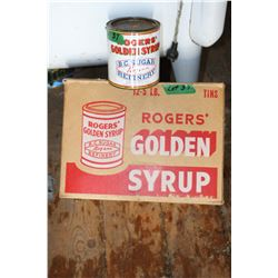 Rogers Golden Syrup Cardboard Box with Rogers Tin