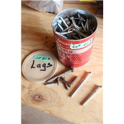 Coffee Tin with Lag Bolts
