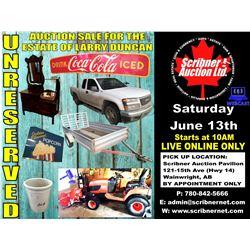 JUNE 13th 2020 ESTATE AUCTION
