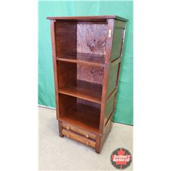 "Shelving Unit - Open Face - 2 Bottom Drawers (49""H x 16"" D x 21""W)"