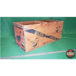 Blue Goose Wooden Crate