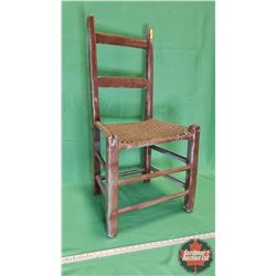 "Chair - Painted Brown - Ratan Seat (36""H x 19""W x 16""D)"
