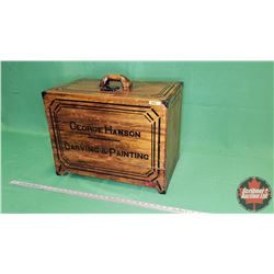 """George Hanson Carving & Painting"" Wooden Carry Box (17""H x 22""W x 14""D)"