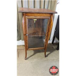 "Curio Cabinet - Visible 3 Sides (Glass Etched with Family Crests) (40""H x 23""W x 20""D)"