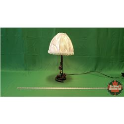 "Cast Floral Electric Table Lamp (23""H)"
