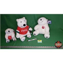 Coca-Cola Plush Polar Bears (Variety of 3)