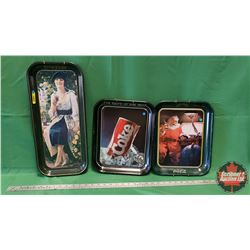 Coca-Cola Modern Era &/or Reproductions Trays (Variety) (3)