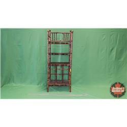 "Bamboo Freestanding Shelving Unit (45""H x 17""W x 13""D)"
