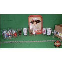 Coca-Cola Collector Combo - Box Lot: 11 Tumblers & Tray