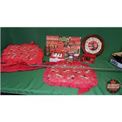Coca-Cola Kitchen Collector Combo - Tray Lot: Napkin Holder, Cutlery Set, Cup, Place Mats (2); Wall