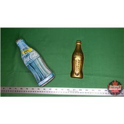 Coca-Cola Thermometer (Reproduction) & Coca-Cola Bottle Shape Tin