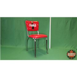 """Coca-Cola Chrome Chair (31""""H x 15""""W x 19""""D)"""