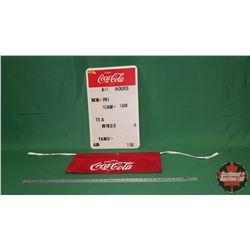 Enjoy Coca-Cola Menu Board & Apron
