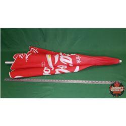 """""""Trink"""" Coca-Cola Patio Umbrella (German) (Slight Rip)"""