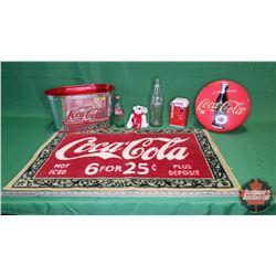 Coca-Cola Collector Combo: Ice Tub, Telephone, 2 Bottles, Plush Polar Bear & Tin
