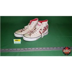 "1980's ""Coke"" High Top Canvas Sneakers"