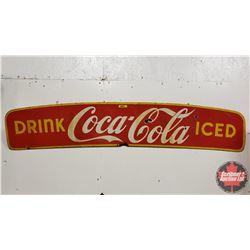 "Coca-Cola Enamel Truck Cab Wind Deflector 1951 (10""H x 50""W)"
