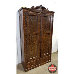 """Wardrobe with Bottom Drawer (81""""H x 44""""W x 18""""D) (With Key)"""