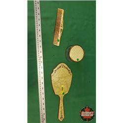 "3 Piece Dresser Set ""Duro Pearl"" (Mirror, Comb & Powder Box)"