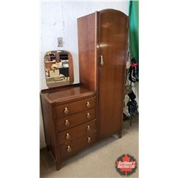 "Gentleman's Wardrobe/Dresser Combo (72""H x 44""W x 16""D)"
