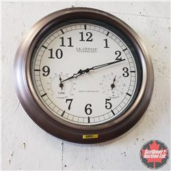 "Radio Controlled Wall Clock/Thermometer/Hygrometer (18""Dia)"