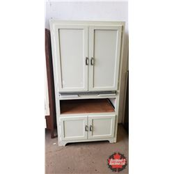 "Kitchen Cupboard with Pull Out Work Surface (67""H x 34""W x 20""D)"