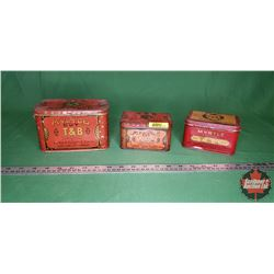 Myrtle Cut Tobacco Tins (3)
