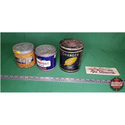 Pipe Tobacco Tins (3) + Package of Pipe Cleaners
