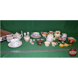 Tray Lot: Large Variety of Cream/Sugars & Salt & Pepper , etc