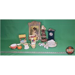 Tray Lot: Variety Chinaware / Home Décor Items