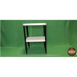"Black & White Tin Shelf Unit (30""H x 20""W x 16""D)"