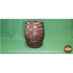 "Oak Barrel with Spigot Hole (Open Top) (21""H)"
