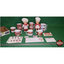Tray Lot - Campbell Soup Grouping (Dolls, Cups/Bowls, Stickers, Recipes, etc)