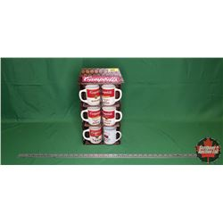 Campbell's Soup - 6 Cups on Display Rack