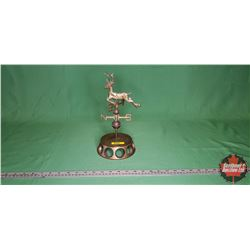 "Brass Weather Vane - Deer - Counter Top (12""H)"