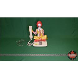 "Rare Ronald McDonald Sitting Push Button Telephone (14""H x 12""W x 10""D)"