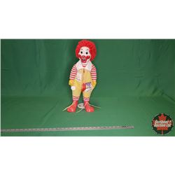"Ronald McDonald Doll with Whistle (21""H)  c.1978"