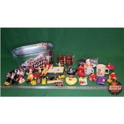 McDonald's Collectibles - Large Variety in Coors Light Tub