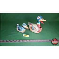 Tin Toys - Ducks : 1 Friction & 1 Wind Up (Not Working)
