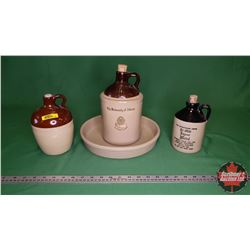 """Pampered Chef Tray (11""""Dia) & 3 Crock Jugs"""