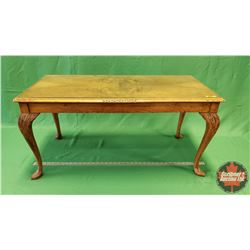 """Coffee Table - Glass Top (18""""H x 36""""W x 18""""D)"""